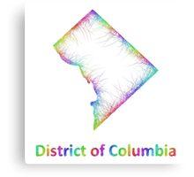 Rainbow District of Columbia map Canvas Print