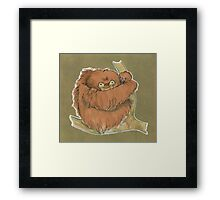 Hugging Sloth Framed Print