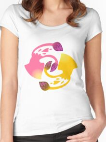 Squid Squad - Pink vs Yellow Women's Fitted Scoop T-Shirt