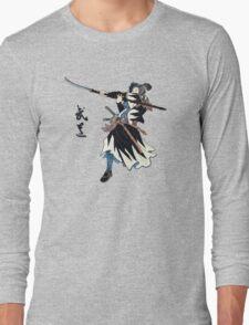 Samurai Wielding Naginata Long Sleeve T-Shirt