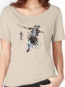 Samurai Wielding Naginata Women's Relaxed Fit T-Shirt