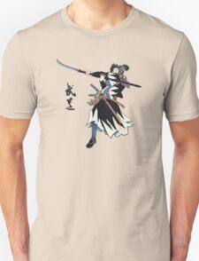 Samurai Wielding Naginata Unisex T-Shirt