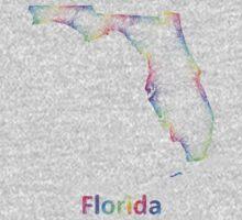 Rainbow Florida map Baby Tee