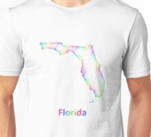 Rainbow Florida map Unisex T-Shirt