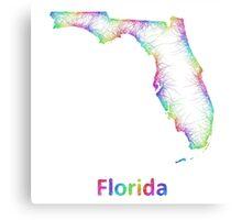 Rainbow Florida map Canvas Print
