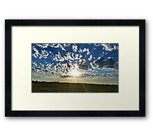 Cloudset Framed Print