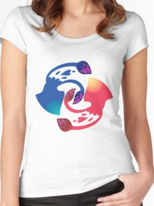 Squid Squad - Red vs Blue Women's Fitted Scoop T-Shirt