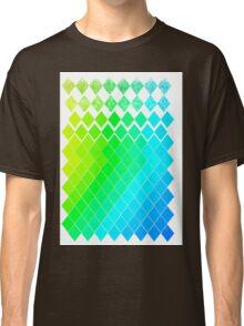 GreenYellowBlue Pattern Classic T-Shirt