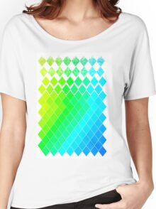 GreenYellowBlue Pattern Women's Relaxed Fit T-Shirt