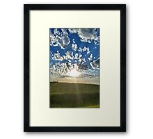 Cloudset Portrait Framed Print