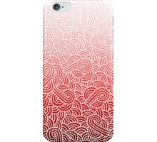 Ombre red and white swirls zentangle iPhone Case/Skin
