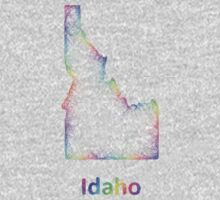 Rainbow Idaho map One Piece - Long Sleeve