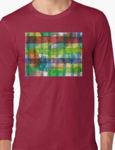Ovals and Checks Long Sleeve T-Shirt