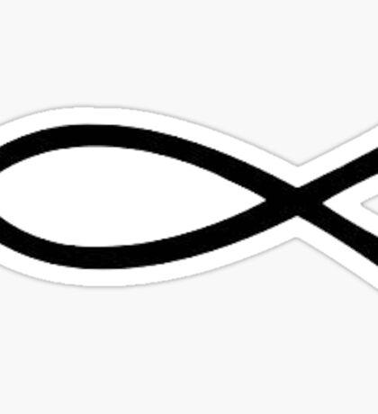 Jesus fish Sticker