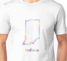Rainbow Indiana map Unisex T-Shirt