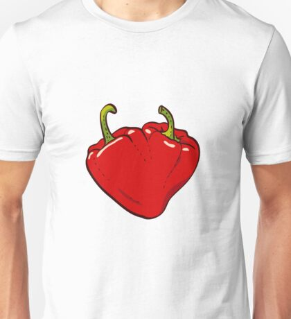 Heart Peppers sweet couple Unisex T-Shirt