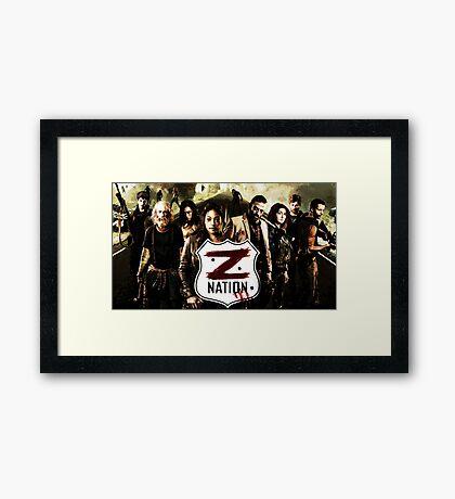 Z nation - cast Framed Print