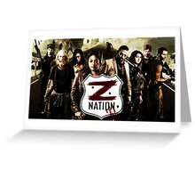 Z nation - cast Greeting Card
