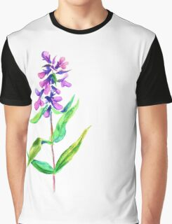 Lilac flower. Watercolor floral illustration. Graphic T-Shirt