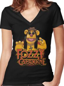 Fozzy Osbourne Women's Fitted V-Neck T-Shirt