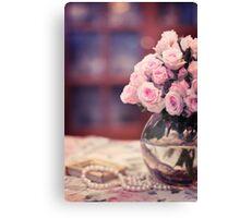 Still Life with Tea Roses Canvas Print