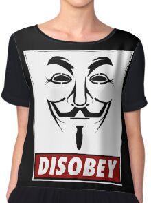 Anonymous Disobey Chiffon Top