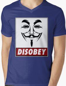 Anonymous Disobey Mens V-Neck T-Shirt