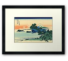 Shichiri beach in Sagami province - Hokusai - Views of Mount Fuji Print Framed Print