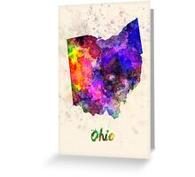 Ohio US state in watercolor Greeting Card