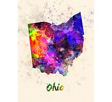 Ohio US state in watercolor Photographic Print