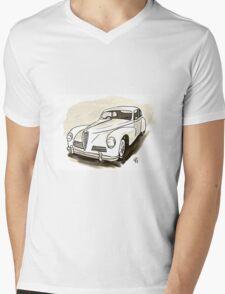 schöner sandfarbiger OldTimer Mens V-Neck T-Shirt