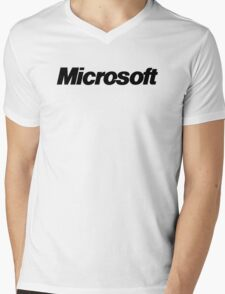 microsoft Mens V-Neck T-Shirt