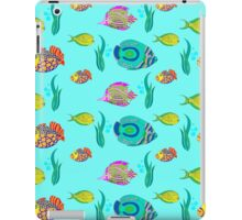 marine fish for a blue background iPad Case/Skin