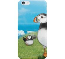 Puffin family iPhone Case/Skin