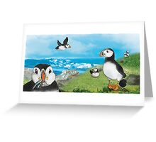 Puffin family Greeting Card