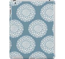 boho flower tender blue seamless pattern iPad Case/Skin