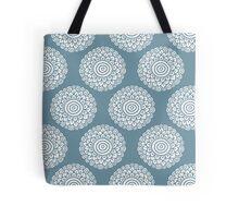 boho flower tender blue seamless pattern Tote Bag