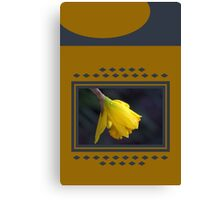 Modern Daffodil T-Shirt Dress Canvas Print