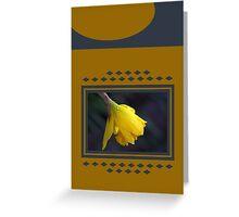 Modern Daffodil T-Shirt Dress Greeting Card