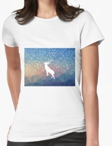 Oh Deer Blue Mountains Womens Fitted T-Shirt