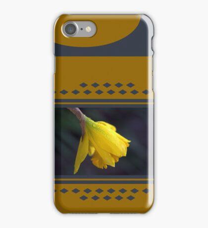 Modern Daffodil T-Shirt Dress iPhone Case/Skin