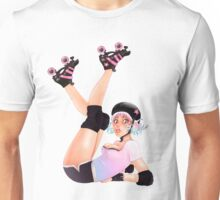 Retro Pinup Roller Derby Girl Unisex T-Shirt