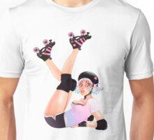 Retro Pinup Roller Derby Girl Unisex T-Shirt