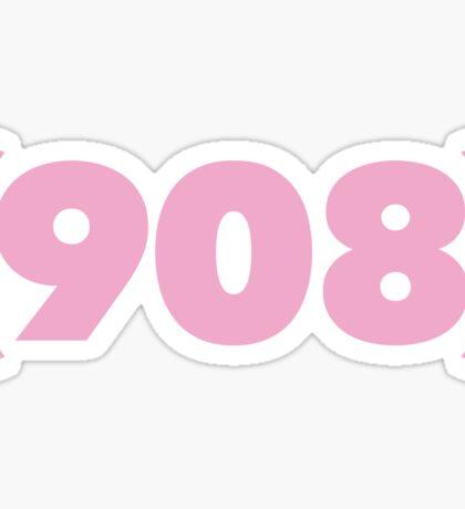 (908) pink Sticker
