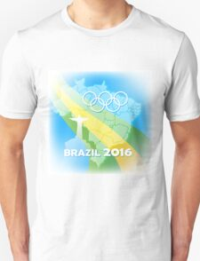 Brazil Olympic Games Poster Unisex T-Shirt