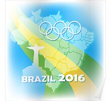 Brazil Olympic Games Poster Poster
