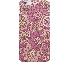 pink retro doodle floral seamless pattern iPhone Case/Skin