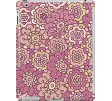 pink retro doodle floral seamless pattern iPad Case/Skin