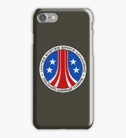 United States Colonial Marine Corps Insignia - Aliens - Dirty iPhone Case/Skin