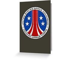 United States Colonial Marine Corps Insignia - Aliens - Dirty Greeting Card